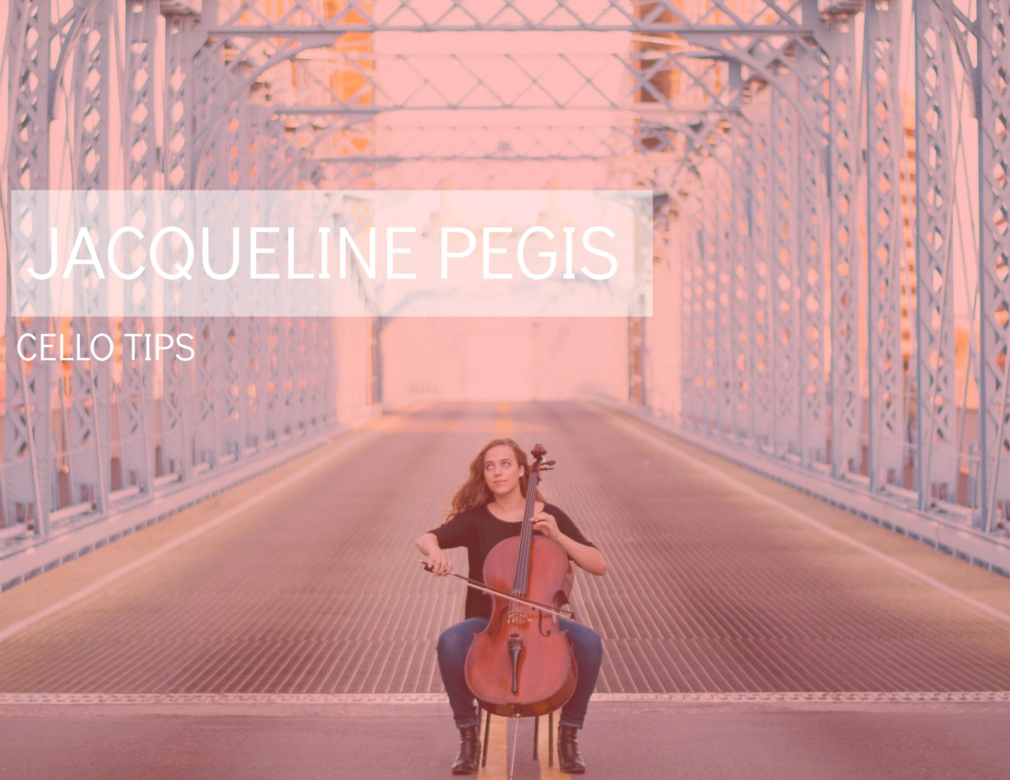 Jacqueline Pegis cello tips