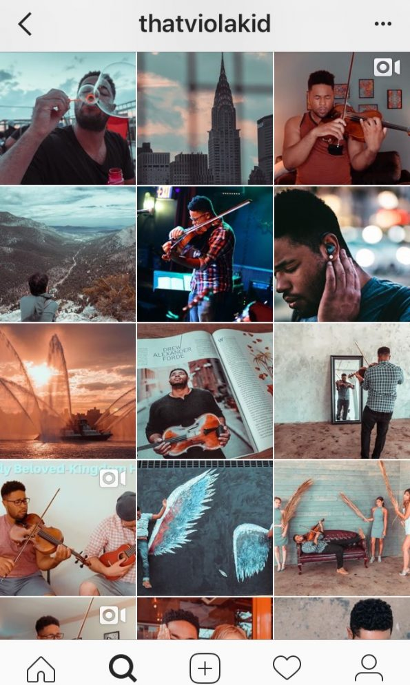 how to create an instagram page for musicians