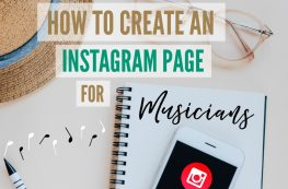 Instagram page for musicians