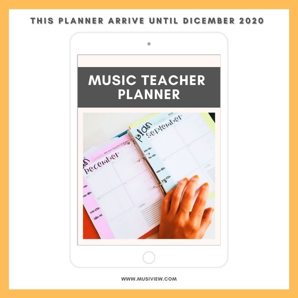 PLANNER music teacher 2020 musiview