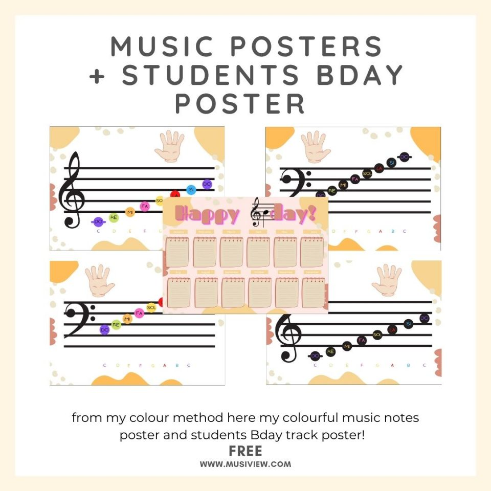 music posters + students bday poster